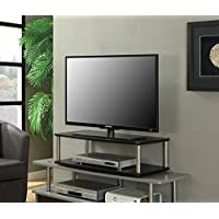 Convenience Concepts Designs2Go 2-Tier TV Swivel Board for Flat Panel TVs Up to 32-Inch or 60-Pounds, Black