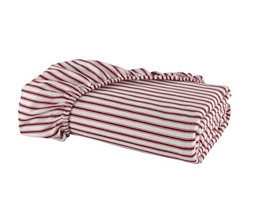 DELANNA Flannel Fitted Sheet by Queen 100% Brushed Cotton All Around Elastic 1 Fitted Sheet (60