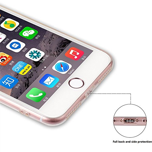 "Coque iPhone 5S Silicone Transparent, Protective Bumper Case Housse pour 4"" Apple iPhone 5/5S / iPhone SE / iPhone 5 SE / iPhone 5e / iPhone 7C Ultra Slim Crystal Clear TPU Case Housse Silicone Étui G"