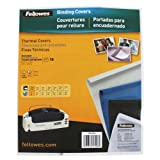 Fellowes Binding Thermal Presentation Covers, 1/16 Inch, White, Holds 15 Sheets, 10-Pack (5225101)