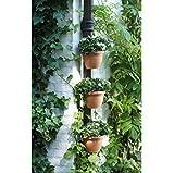 3 Pc/Lot Unique Gutter Downspout Garden Flower Pot DRAIN PIPE FLOWER PLANT POTS Tubs Drain Pipe Garden Planters