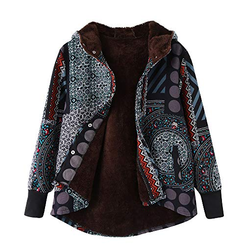 Clearance Sale ! Women's Winter Warm Japanese Harajuku Print Hoodie Outwear Print Oversize Hasp Coats Overcoat (3XL) from Kshion_Women blouse