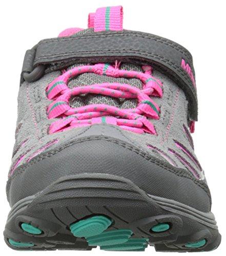 Merrell Chameleon Low A/C Wtpf - Zapatillas de senderismo Niñas Gris (Grey/Pink)