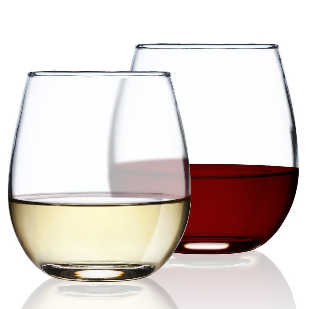 Chef's Star Shatter-Resistant Stemless Wine Glass Set (12 Pack) by Chef's Star (Image #2)