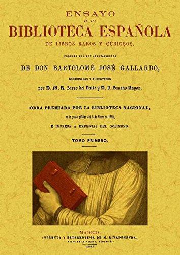 Ensayo de una biblioteca española de libros raros y curiosos 4 Tomos: Amazon.es: Gallardo, Bartolome Jose: Libros