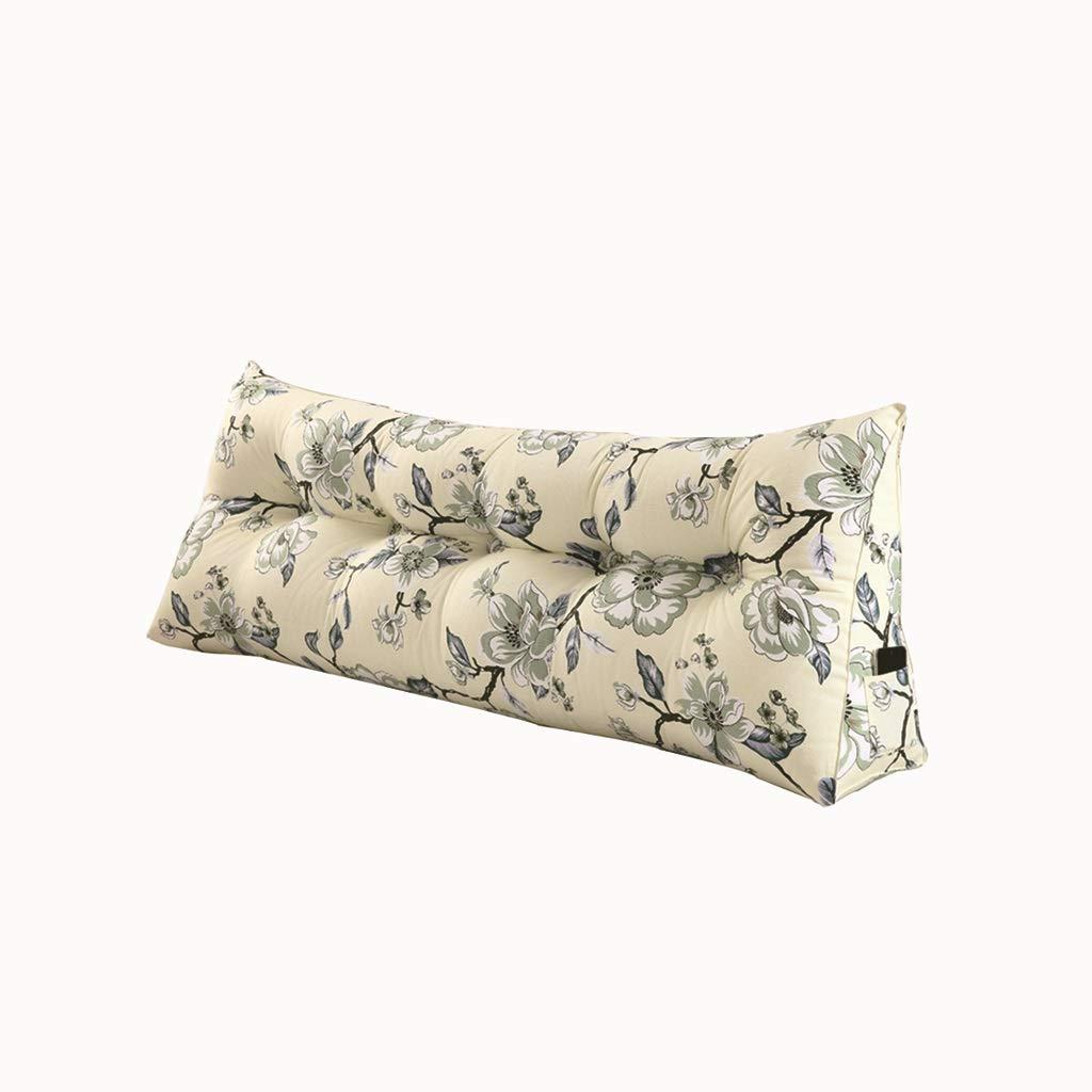 クッションダブルヘッドソフトバッグトライアングルクッションウエストベルトソファ腰椎枕取り外し可能と洗える (色 : イエロー いえろ゜, サイズ さいず : 180*50*20cm) 180*50*20cm イエロー いえろ゜ B01KJYIQA2