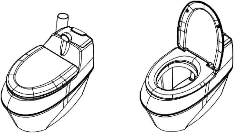 Inodoro seco Aseo para jard/ín Agande Inodoro de compostaje WC-B 500 Torf Bio Aseo para Camping Inodoro org/ánico