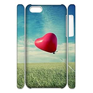 3D Love 71 IPhone 5C Case, Cute Protective Case Iphone 5c Cases for Girls with Designs Okaycosama {White}