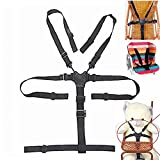 High Chair Straps - 5 Point Harness - Harness for High Chair - High Chair Harness - Universal Baby Safe Belt Holder replacement for Stroller Wooden High Chair Pram Buggy Children Kid Pushchair