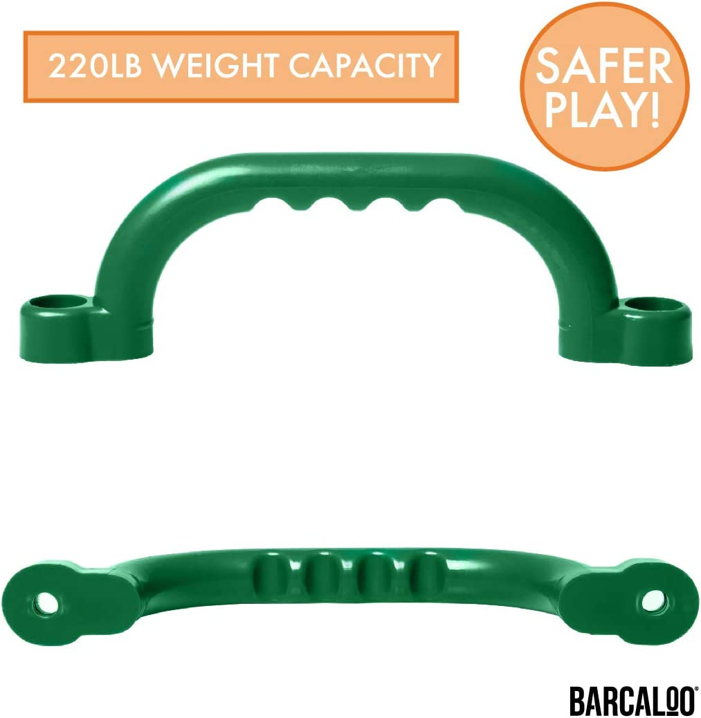 Playground Safety Handles Green Grab Handle Bars for Jungle Gym