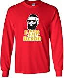 "LONG SLEEVE Red Houston Harden ""Fear the Beard"" T-Shirt"