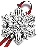 Gorham 2018 Snowflake Sterling Silver Christmas Holiday Ornament 49th Edition