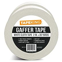 Tape King Gaffers Tape White (2-Pack) Professional Grade Premium Gaffer, 2 Inch X 30 Yards Per Roll