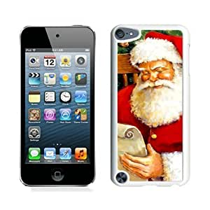 ayuw diy Hot Sell Design Santa Claus christmas White iPod Touch 5 Case 3