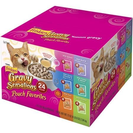 Friskies Wet Cat Food Variety Packs of 24