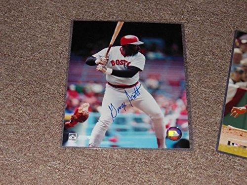 Red Sox George Scott Autograph 8x10 Photo Pose 3 Action Shot