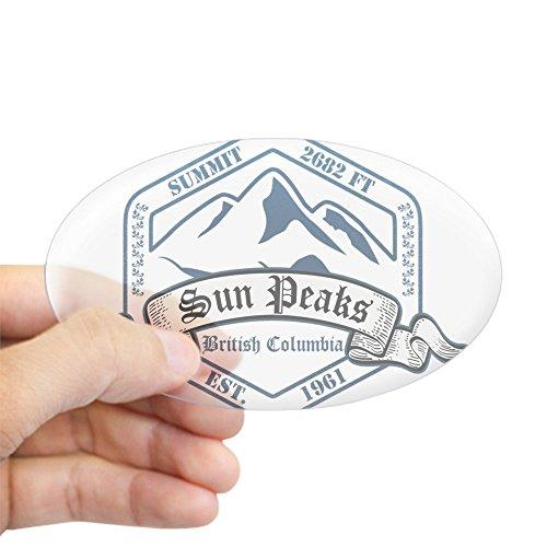 CafePress Sun Peaks Ski Resort British Columbia Sticker Oval Bumper Sticker, Euro Oval Car Decal
