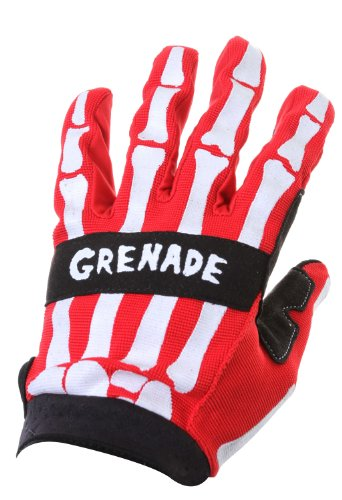 Grenade Men's Skeleshred Glove, Red, Medium