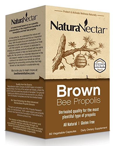 NaturaNectar Brown Bee Propolis, 60 Count