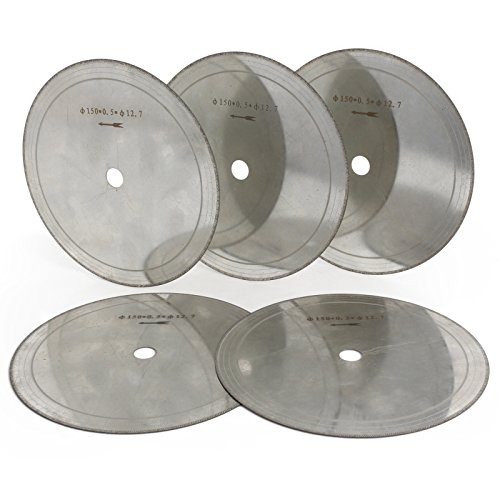 ILOVETOOL Super Thin Lapidary Diamond Saw blades 6 inch Cutting Stone Pack of 5Pcs ()