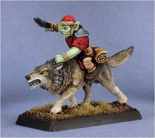 Goblin Beast Rider Reven Adept Miniature 25mm Heroic Scale Warlord Reaper Miniatures