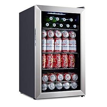 Image of Beverage Refrigerators Kalamera Cooler KRC-70BV 93 Can Compressor Beverage Refrigerator, Black