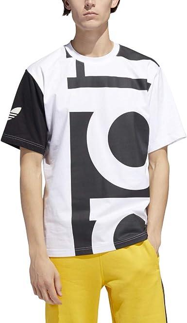 adidas Men's Originals Big Adi Tee BlackWhite dy6653