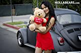 Hollabears Extra Large Shawty U Fine As Shit Tho Teddy Bear - Funny and Cute Valentines Day Gift for Girlfriend, Boyfriend or Best Friends