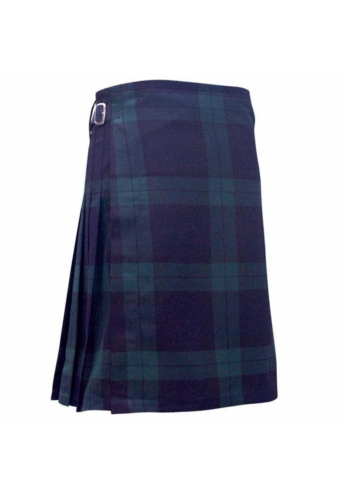 Mens Scottish 5 Yard Party Kilt Black Watch Tartan 34'' - 38''