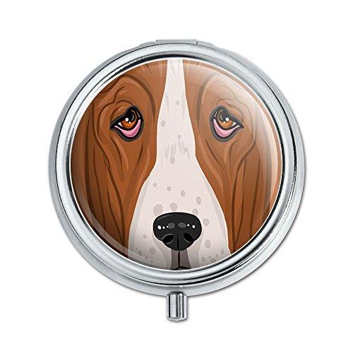 Basset Hound Face Dog Pet Pill Case Trinket Gift Box