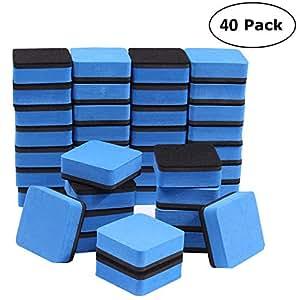 Amazon.com: 40 piezas de borrador magnético de pizarra ...