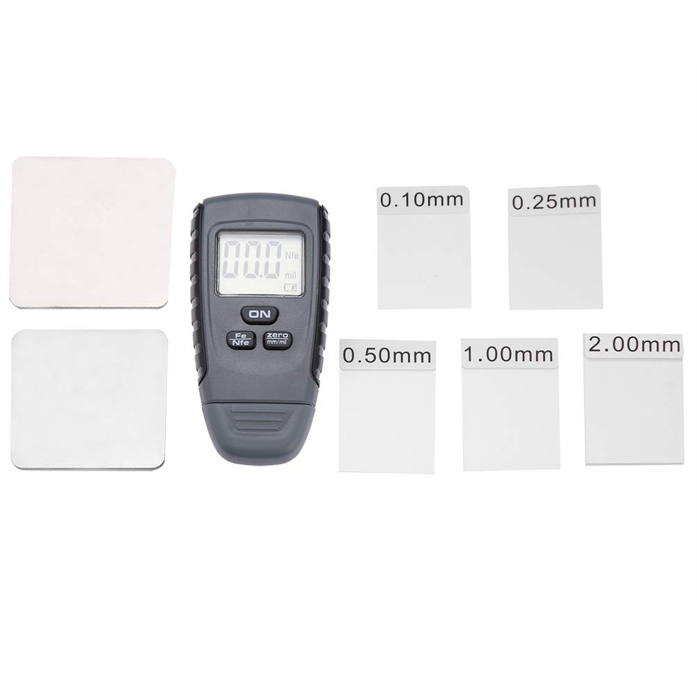 FTVOGUE Paint Thickness Tester Mini LCD Digital Display Paint Thickness Meter Car Coating Measuring Gauge Testing Instrument Switchable Units mm//mil