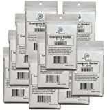 "Pack of 10 Large Silver Emergency Blankets, 87"" by 59"", MCR Medical Supply"