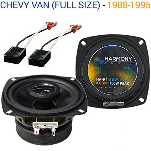 Chevy Van (Full Size) 1988-1995 Factory Speaker Upgrade Harmony R46 Package New (1993 Van)