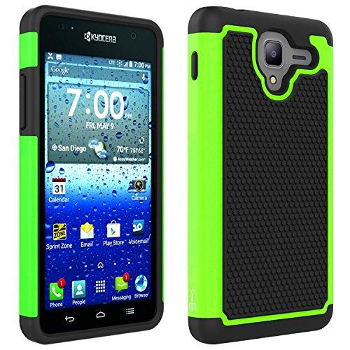 Kyocera Hydro View Case, Hydro Shore Case, Hydro Reach Case (Neon Green Hard Case)
