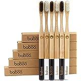 Bamboo Toothbrush - (2 pack) Baboo LLC Organic Bamboo Handle, BPA Free Nylon Bristles, Environmentally Friendly, Sustainable Dental Care.