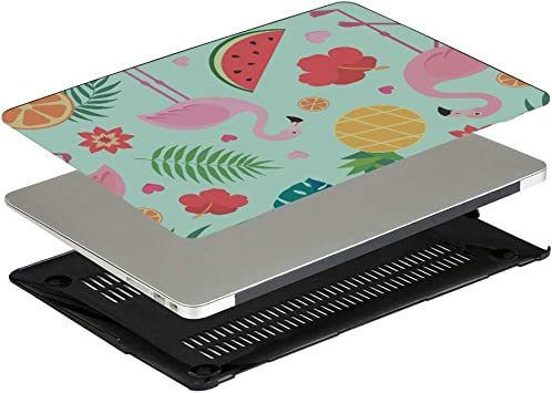 MacBook 13 Cover Summer Fruit Watermelon Green Leaf Plastic Hard Shell Compatible Mac Air 11 Pro 13 15 Mackbook Pro Case Protection for MacBook 2016-2019 Version