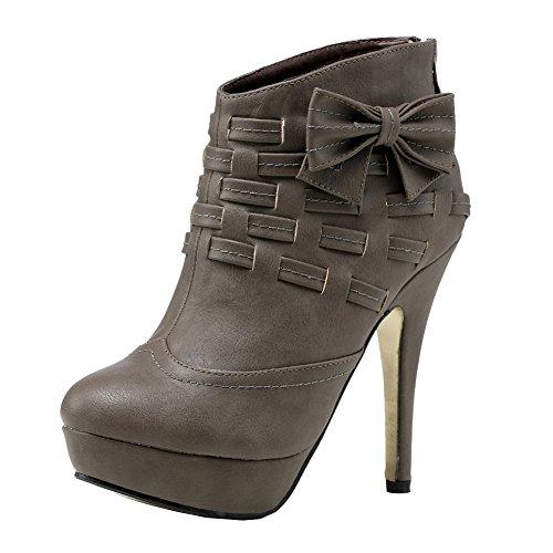 Getmorebeauty Femmes Nobles Arcs Plate-forme Talon Haut Talon Cheville Bottes Chaussures Armée