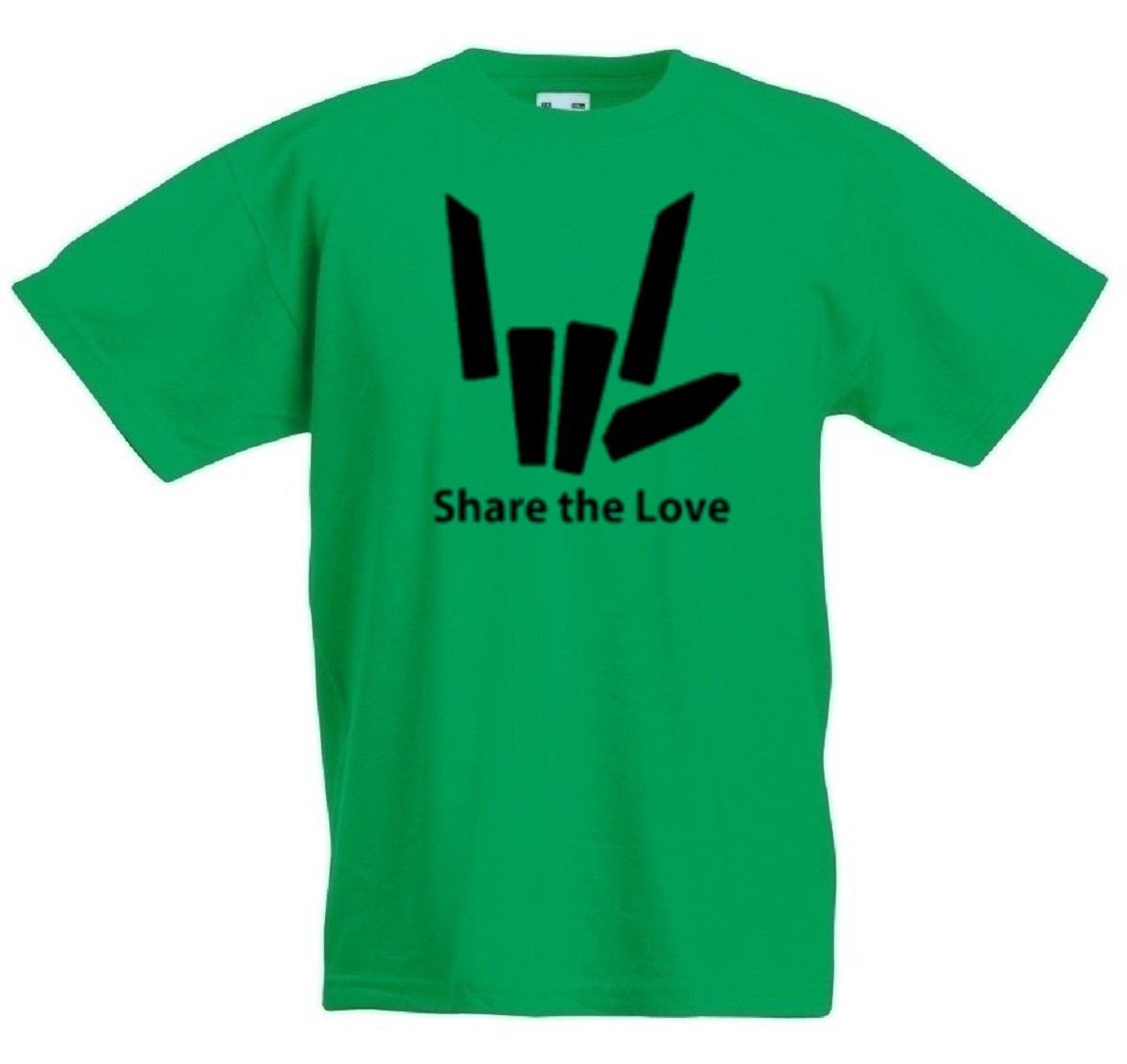 Share The Love Black Logo T-Shirt, Cotton,100% Cotton, Men's, Women, Kids Men' s