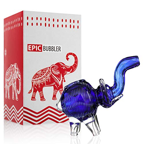 Epic Hand Glass Elephant Device 5 inch Blue (Best Glass For Weed)