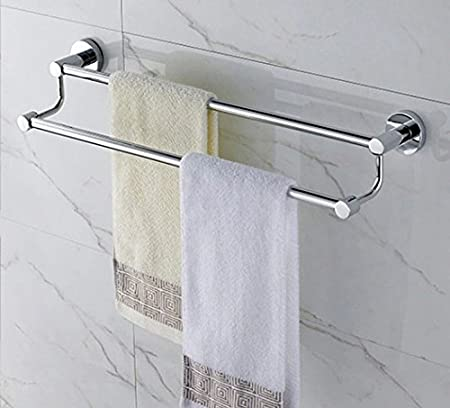 NEW Double Polished Chrome Bathroom Towel Rails Stainless Steel