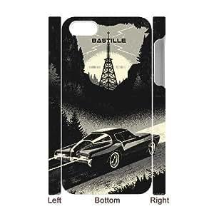3D [Cars Series] IPhone 4/4s Case Black Car Illustration, Iphone 4 Case for Men Binocara - White