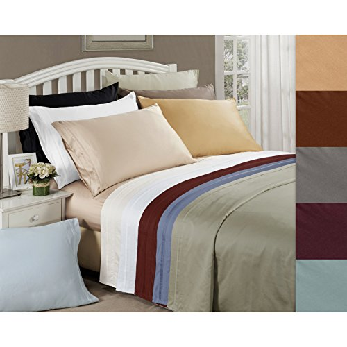 JB Linen 500 Thread Count 100% Pure Egyptian Cotton 4-Piece Sheet Set Cot Bed (30
