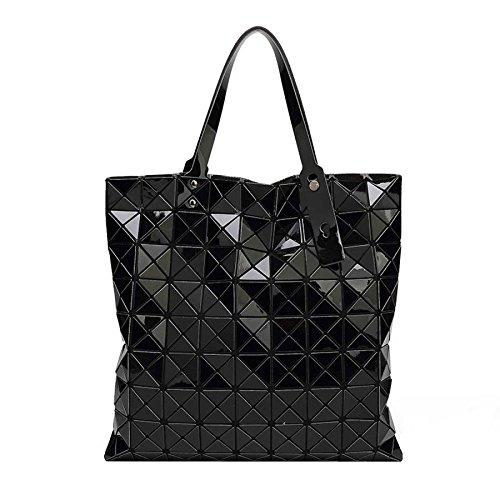 Sacs à De Mme La Bandoulière Paquet Géométrie Le Pliage La Diamant Sac Lingge CY Grands Black Sac Main La 9 à Le Mode Bag Grille fBnq7qxT6