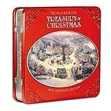 Thomas Kinkade - Treasury of Christmas Collector Set - St Nicholas Circle in Holiday Tin with 6 BONUS Postcards