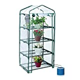 Yardeen YOSEMITE 4 Tiers Portable Greenhouse Small Backyard Extended 27'' Long x 18'' Wide x 63'' High
