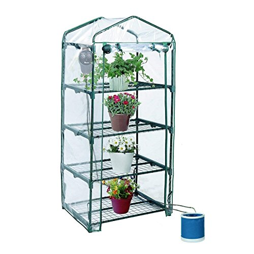 Yardeen YOSEMITE 4 Tiers Portable Greenhouse Small Backyard Extended 27'' Long x 18'' Wide x 63'' High by Yardeen