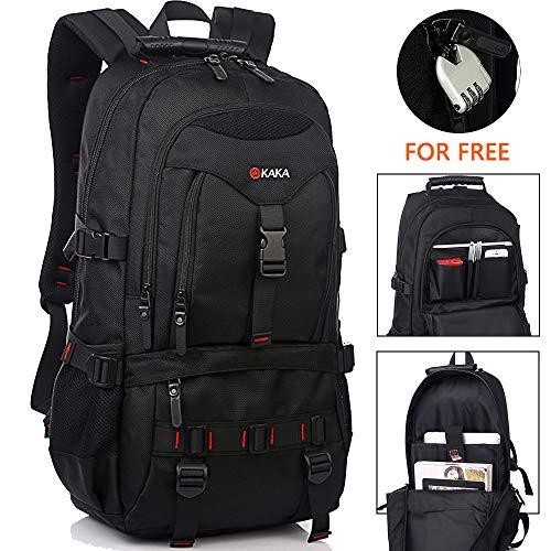 Travel Laptop Backpack,Laptop Bookbag Outdoor Travel Anti-Theft Backpack, School Student Bag College Bookbag Camping Backpack for Men (Black)