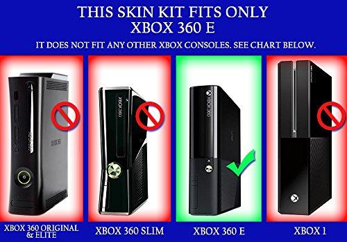 Amazon com: Microsoft Xbox 360E Skin (3rd Gen) - NEW - 3D CARBON