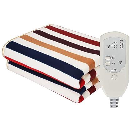 HUAITING Manta eléctrica tamaño Twin, Control Individual Calienta Camas eléctrico, regulador de Calor de